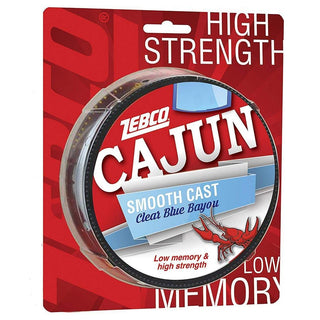 Zebco Cajun Cast Filler 330yd 17lb -clear Blue Bayou