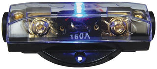 Fuseholder Anl Audiopipe Blue Led; Platinum