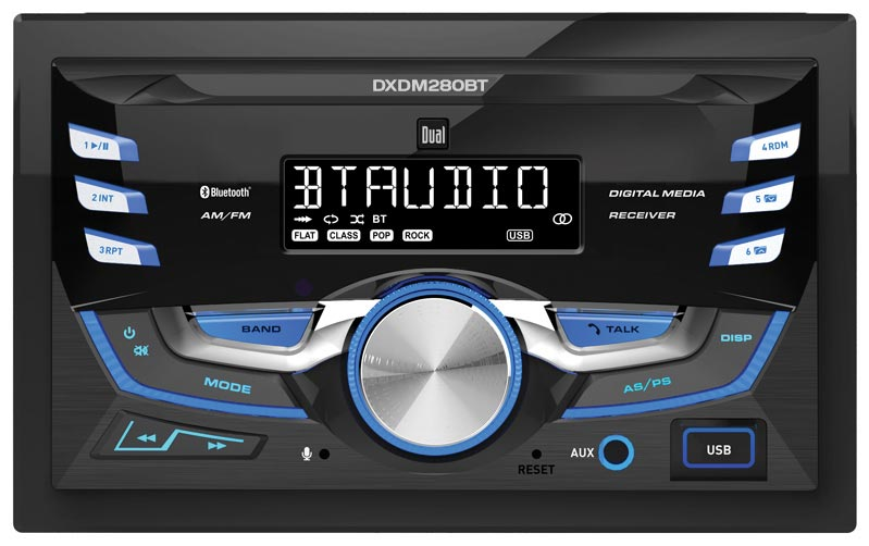 Dual Double Din Am Fm Tuner Cd Player Bluetooth Usb Aux Mp# Lcd Remote