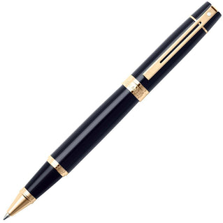 Cross Sheaffer 300 Glossy Black W Gold Trim Rollerball Pen
