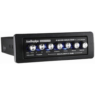 Audiopipe 5 Band Graphic Equalizer 7v Line Driver