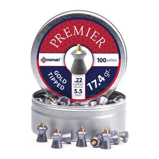 Crosman Premier Gold Tipped Pellet.22 Caliber 17.4 Grain 100 Count