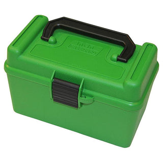 Mtm Deluxe Ammo Box 50 Round Handle 7mm Rem Mag 300 Win Mag Green