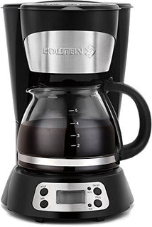 Holstein Housewares 5 Cup Programmable Coffee Maker Black