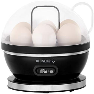 Holstein Housewares 7-egg Capacity Electric Egg Cooker Black-stainless Steel