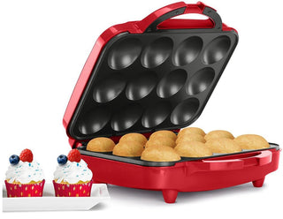 Holstein Housewares One Dozen Cupcake Maker - Red