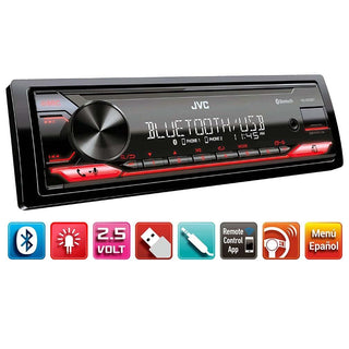 Jvc S. Din Digital Media Receiver Bluetooth Front Usb Front Aux Detachable Face Panel