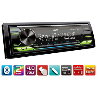 Jvc S. Din Digital Media Receiver Bluetooth Front Usb & Aux Amazon Alexa Compatible