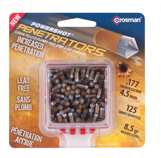 Crosman Powershot Gold Flight Penetrator (gold).177 Caliber 8.5 Grain 125 Count