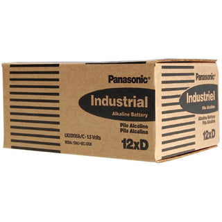 "Panasonic Alkaline ""d"" Cell  12 Piece Box Of Batteries"