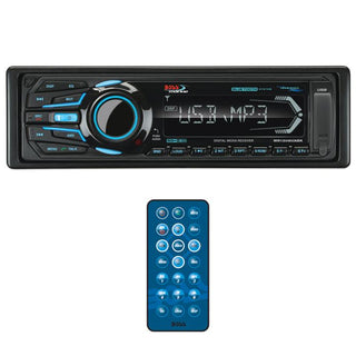 Boss Marine Mechless Single Din Receiver Bluetooth Usb-sd Remote Black