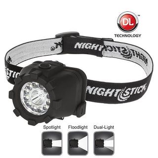 Nightstick Dual Light Led Headlamp  Nonrechargeable  Black