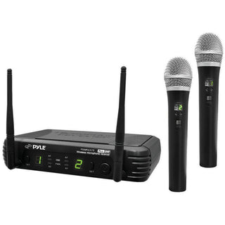 Pyle Pro 2ch Uhf Wireless Handheld Mic System