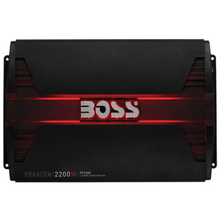 Boss Phantom 2200 Watts 4 Channel Power Amplifier Remote Subwoofer Level Control