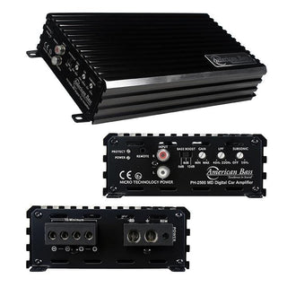American Bass 2500w Max Class D Amplifier Phantom Micro-technology