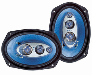 "Speaker Pyle 6x9""4-way 400 Watt Blue Label Series"