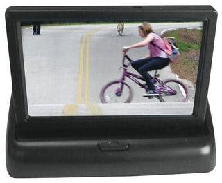 "Pyle 4.3"" Monitor W- Aluminum Black License Plate Camera"