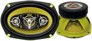 "Speaker 6x9"" 8-way Pyle Gear 500watts; Yellow Basket-cone"