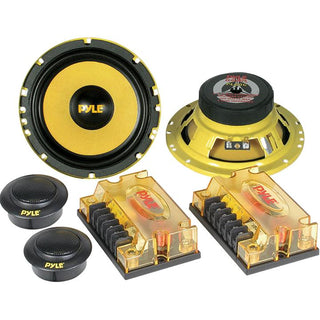 "Component System 6.5"" Pyle Gear;400watts;ylw Mids-xovers"