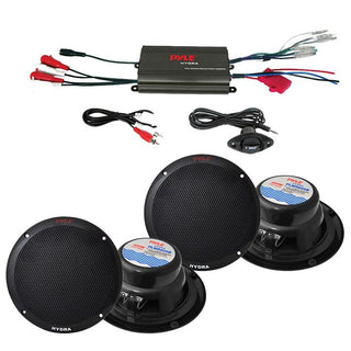 "Pyle Marine 800w 4ch Amp And 6.5"" Speaker System"