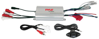 Pyle Marine 4ch Mp3-ipod Marine Power Amp - Silver Finish