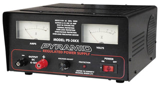 Power Supply Pyramid 25 Amp 6-15 Volt W-cooling Fan