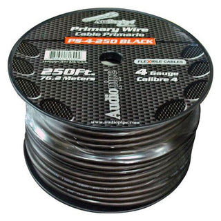 Audiopipe Flexible Power Cable Black 250 Ft.