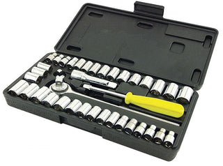 Great Neck Saw Pso40 Drive Socket Set 1-4-inch And 3-8-inch Drive 40-piece
