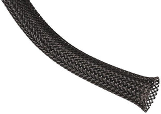 Techflex 1-2 Inch 100 Ft Black Pet Expandable Braided Sleeving