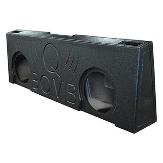"Qpower Dual 12"" Gmc 2007-2013 Crew Cab Under Seat Qbomb"