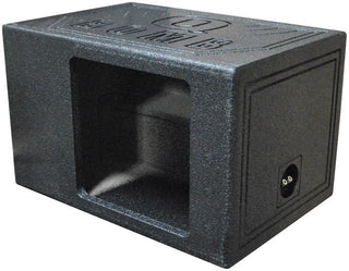 "Qpower Single 12"" Bomb Boxsquare Ported Square Woofer Opening"