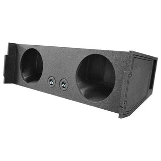 "Qpower Bomb Dual 12"" Woofer Box 2007-2014 Chevy Tahoe 3rd Row Vented Downfire"