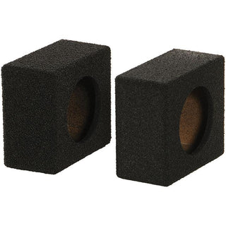 "Qpower Empty 6.5"" Speaker Enclosure Pair Qbomb (spray On Black Bedliner Coating)"