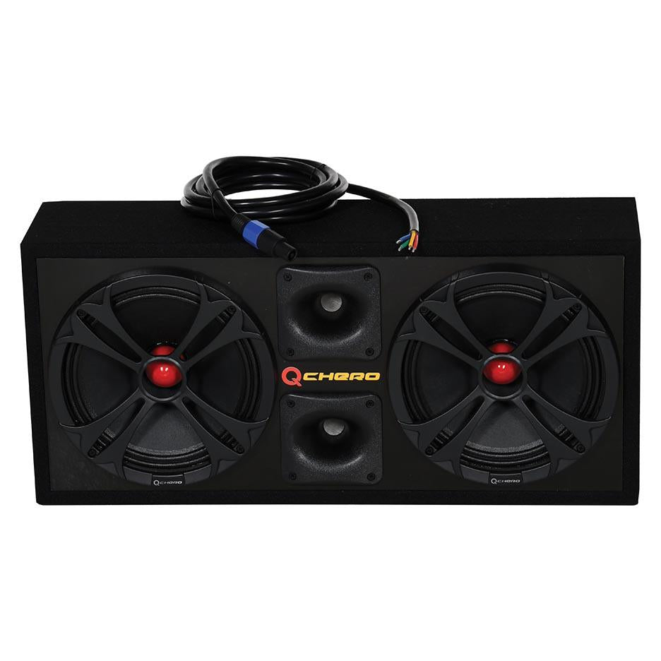 "Qpower Loaded Chuchero (2) 10"" Speakers & (2) Superztweeters Boxed Glossy Black"