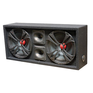 "Qpower Loaded Chuchero (2) 10"" Speakers & (2) Superztweeters Boxed"