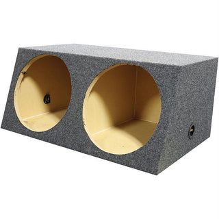 "Qpower (2) 12"" Heavy Duty Angled Woofer Box - 1"" Mdf Construciton"
