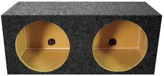 "Empty Woofer Box (2)15"" Qpower Square Style; *mpsq15e*"