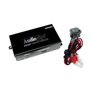 Wireless Fm Modulator Audiopipe 2 Ch. On-off Switch;adj.output Level
