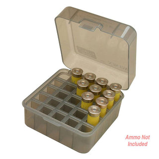Mtm Shotshell Box 25 Round Flip-top 12 20 Gauge Up To 3 Inch Clear Smoke