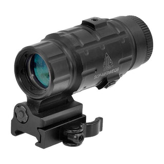 Utg 3x Magnifier With Flip-to-side Qd Mount W-e Adjustable