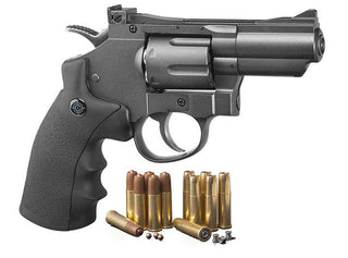 Crosman (black- Grey)co2 Powered Dual Ammo Full Metal Snub Nose Air Revolver
