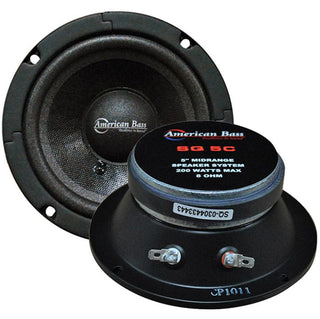 "American Bass 5"" Midrange Sealed Basket Speaker Black (sold Each) 200w Max"