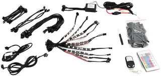 "Street Vision Streetadapt Adaptive Rgb Led Motorcycle Kit (10 4"" Strips Wireless Remote And Keychai"