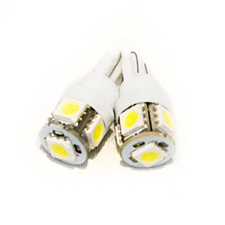 Street Vision T10 5050 Led 5 Chip Bulbs-white*pair*