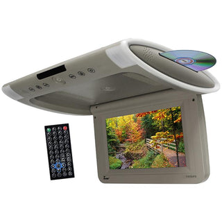 "Tview 10.1"" Wide Screen Flip Down W-built In Slot Type Dvd Player (gray)"