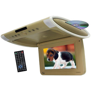 "Tview 10.1"" Wide Screen Flip Down W-built In Slot Type Dvd Player (tan)"