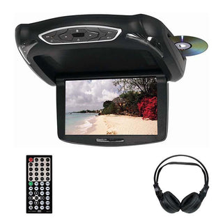 "Tview 10.2"" Tft Lcd Flip Down Monitor Dvd Headphones Remote Usb-sd Interchangeable Skins"
