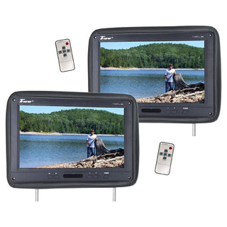 "Tview 12.1"" Headrest Monitor Ir Transmitter Remotes (2) Black Pair"