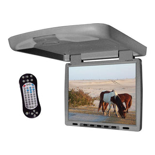 "Tview 14"" Flip Down Monitor With Built In Dvd Ir-fm Trans Gray"