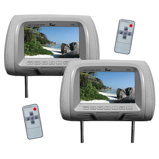 "Tview 7"" Tft-lcd Car Headrest With Monitorpair Gray"